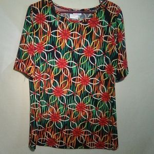 Lularoe multicolor t-shirt. 2XL. #146